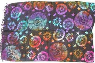 Sarong - Suns and Stars 44x72