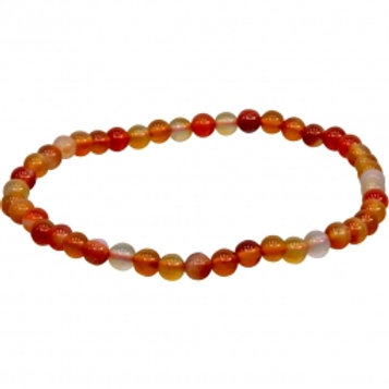 Brown & Red Agate 4mm
