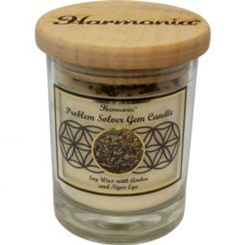 Crystal Candle - Problem Solver Tigers Eye