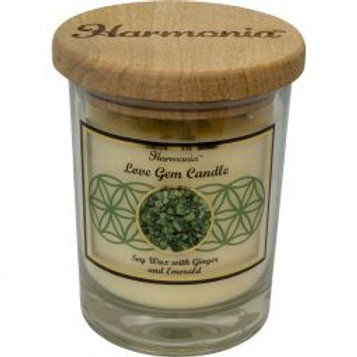 Crystal Candle - Love Emerald