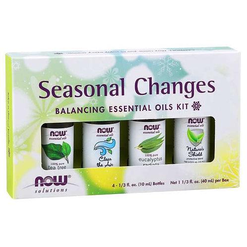 NOW Seasonal Changes Balancing Essential Oil Kit
