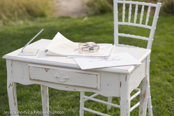 Vintage Wedding Desk
