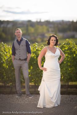 Okanagan Vineyard - Wedding Portrait