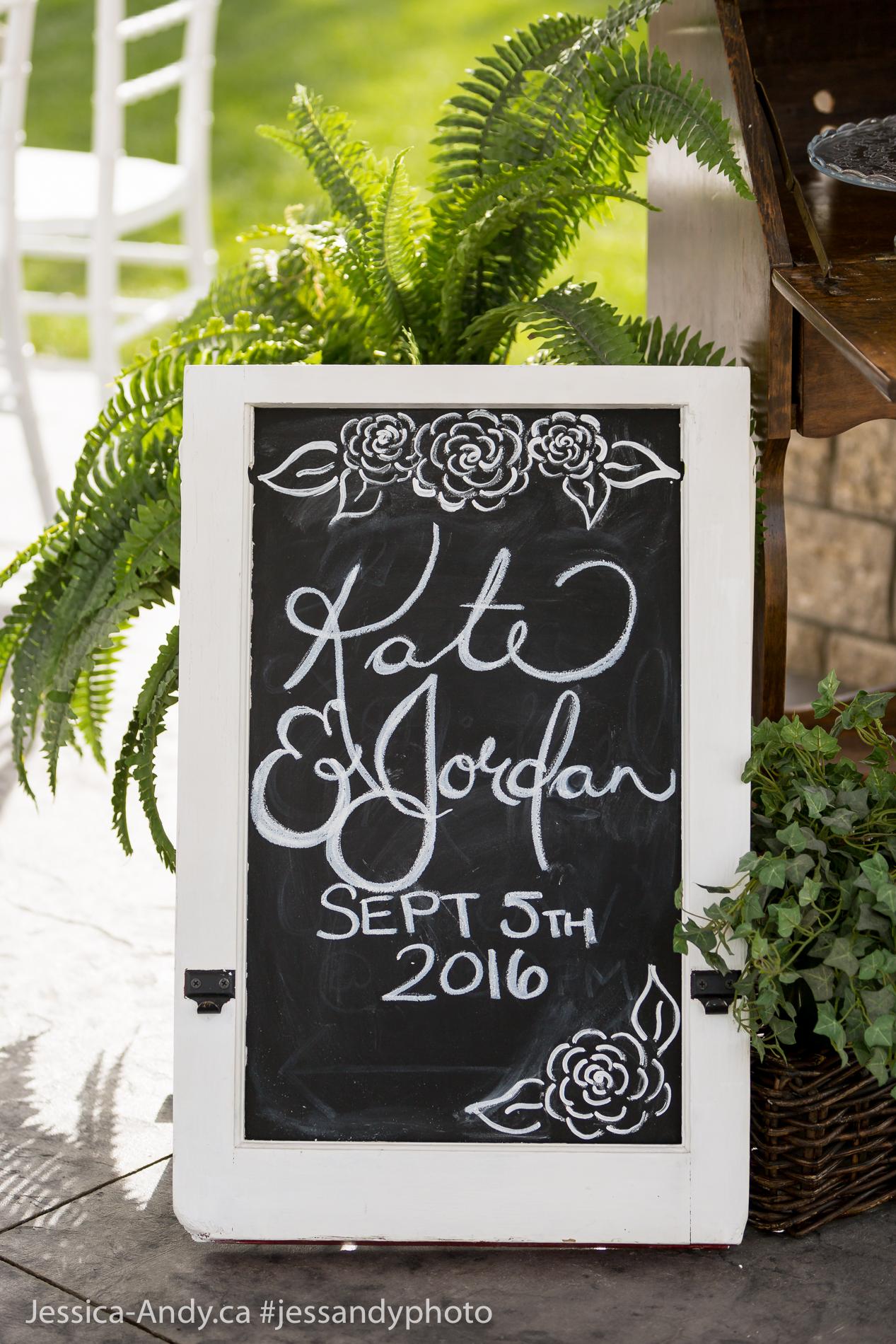 Chalk Art Wedding Welcome