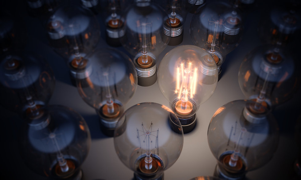 Glowing-Light-Bulb-Standing-Out-From-the
