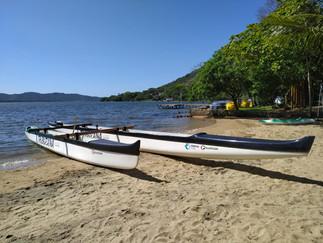 Lagoa da Conceição a bordo de Canoas Havaianas