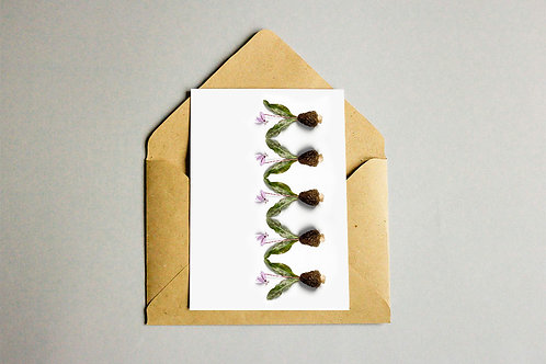 Greeting Card and Two Trees