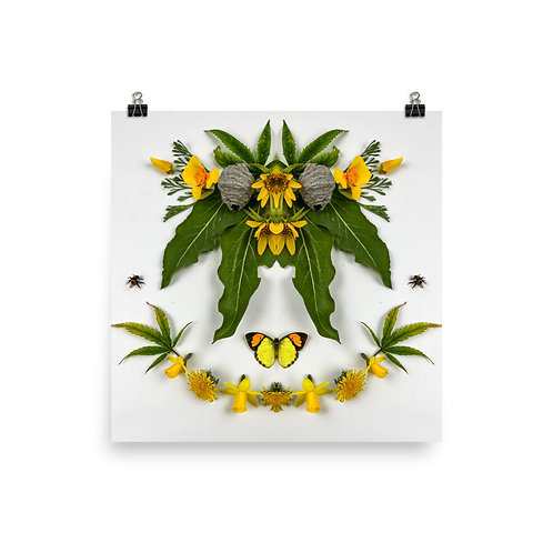 Road Side Flowers 10x10 Poster