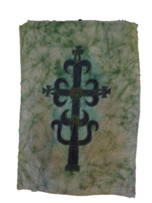 Croix sur tissu