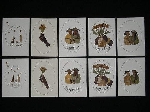 Lot de 10 cartes Banana Art