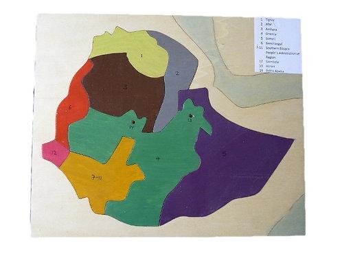 Puzzle bois Ethiopie