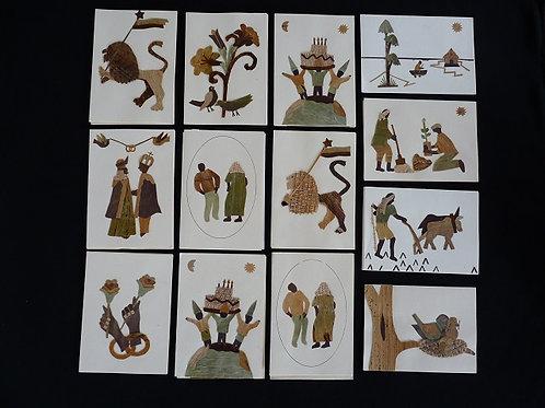 Lot de 25 cartes Banana Art