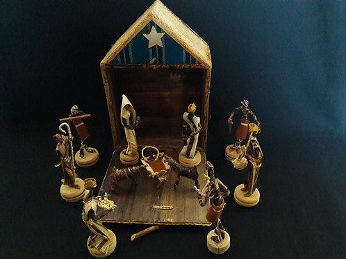 Crèche de Noël en Banana Art
