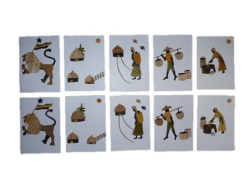Lot de 10 cartes Banana Art