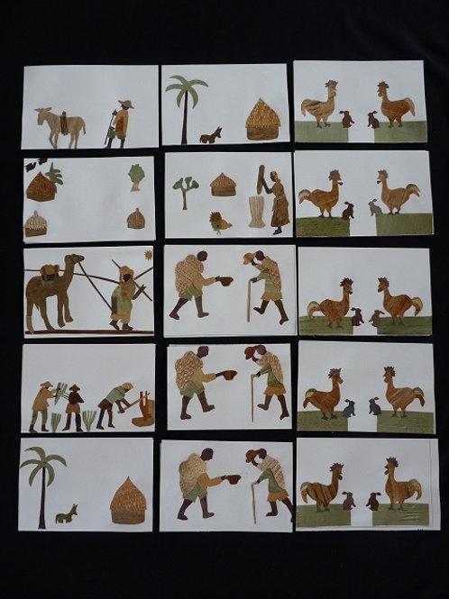 Lot de 30 cartes simples Banana Art