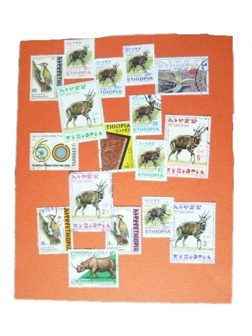 Lot de timbres oblitérés