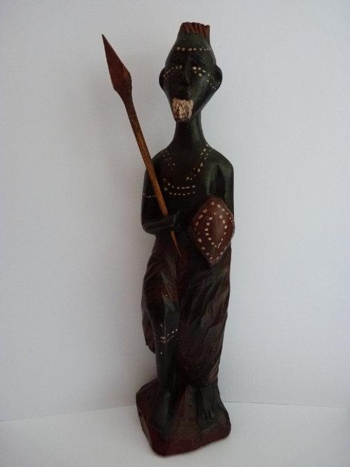 Statuette homme avec lance