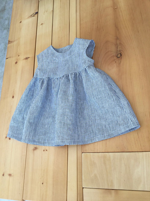 BABY  linenstripe frenchsleeve OP