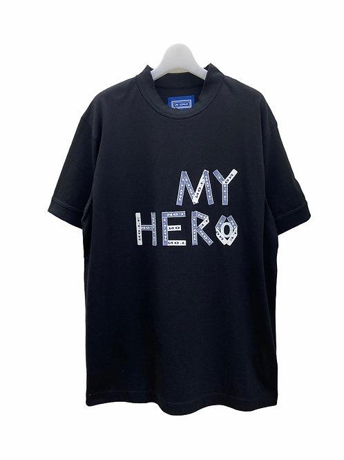 MY HERO T-SH Black.size=02.03