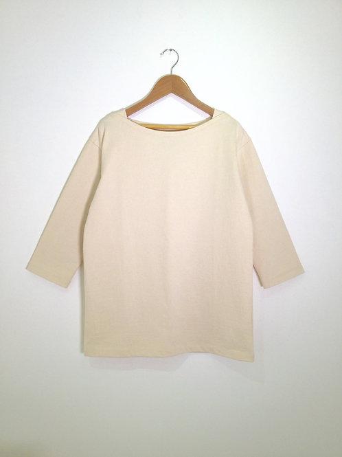 atelier sou×SONUJI boat neck pullover