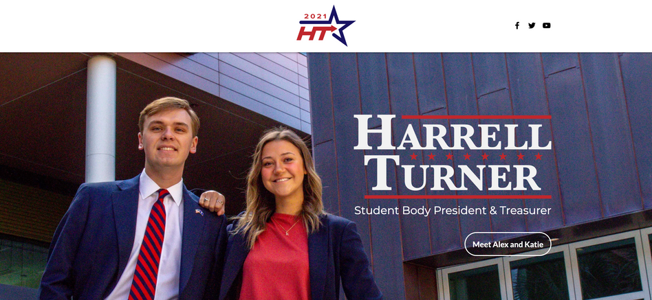 Harrell Turner UofSC Student Body Presidential Campaign Website