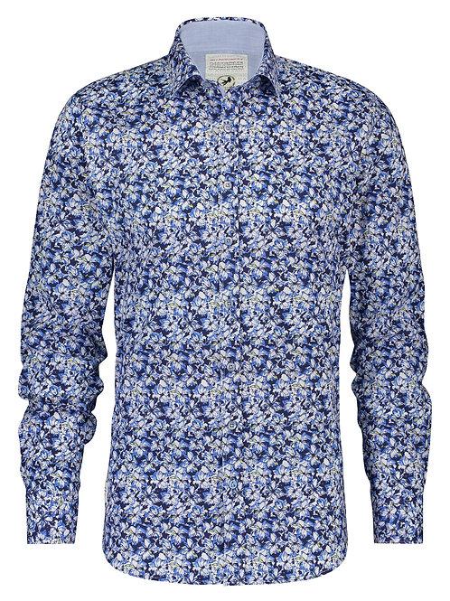 A Fish Named Fred pánská košile blue flowers