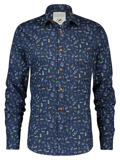 A Fish Named Fred pánská košile sombréro modrá