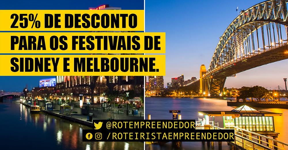 Desconto para os Festivais de Melbourne e Sidney
