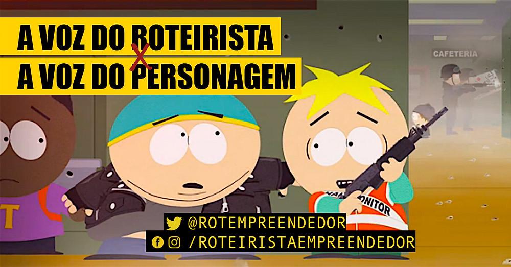 Imagem de South Park sobre tiroteio em escolas