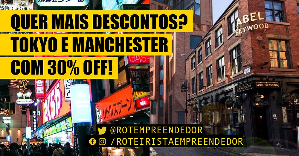 30% para os festivais de Tokyo e Manchester