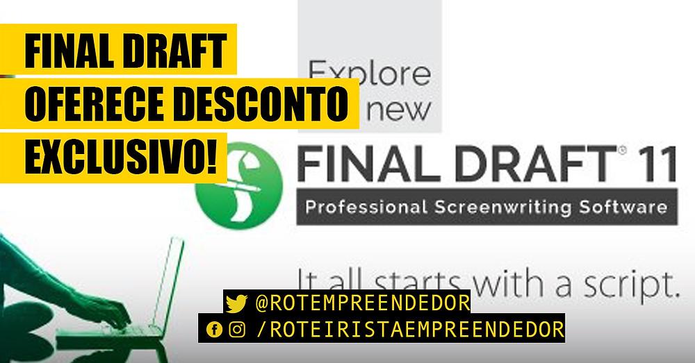 Final Draft 11 com 30% de desconto