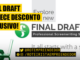 Final Draft oferece desconto EXCLUSIVO para o Final Draft 11