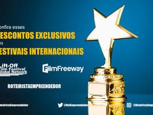 Confira Desconto EXCLUSIVOS para Festivais Internacionais.