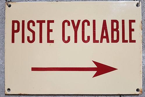 Plaque émaillée piste cyclable