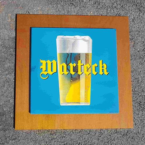 Plaque émaillée bière Warteck