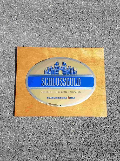 Plaque émaillée bombée Schlossgold Felschlösschen