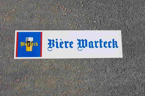 Plaque bière Warteck
