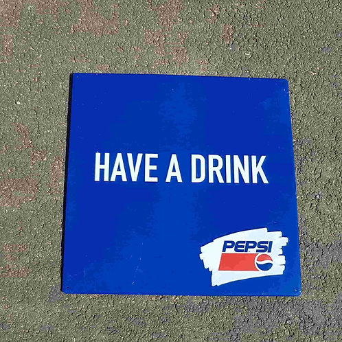 Plaque estampée Pepsi
