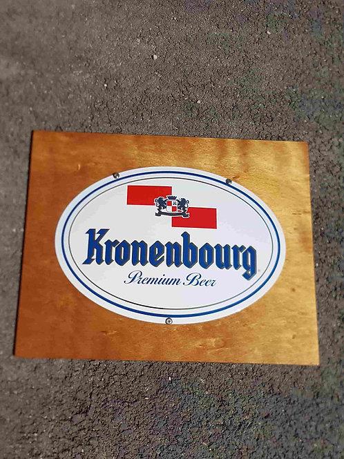 Plaque émaillée bombée bière Kronenbourg