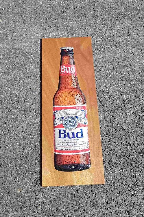 Plaque en tôle bière Bud