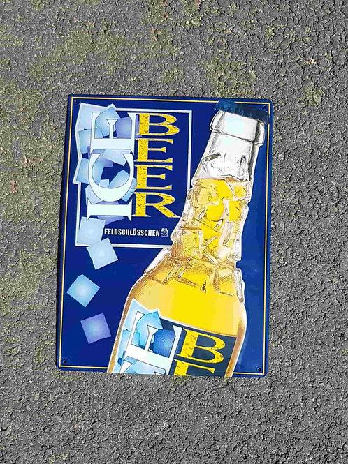 Plaque bombée Ice Beer Feldschlösschen