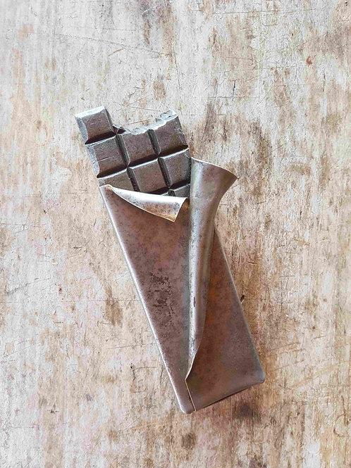 Plaque de chocolat en métal