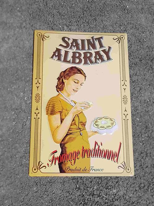 Plaque estampée Saint Albray