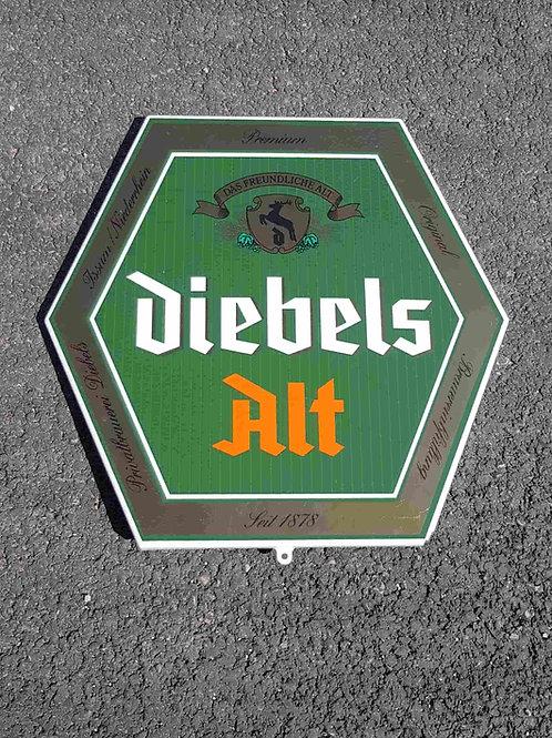 Plaque émaillée bière Diebels