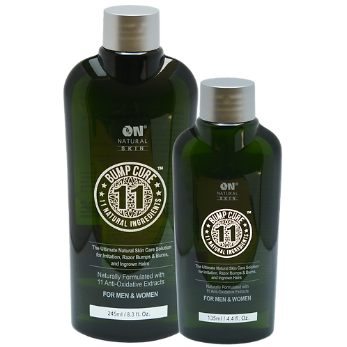 Bump Cure 11 - Natural Skin Care Solution for Razor Bumps & Burns, Ingrown Hair