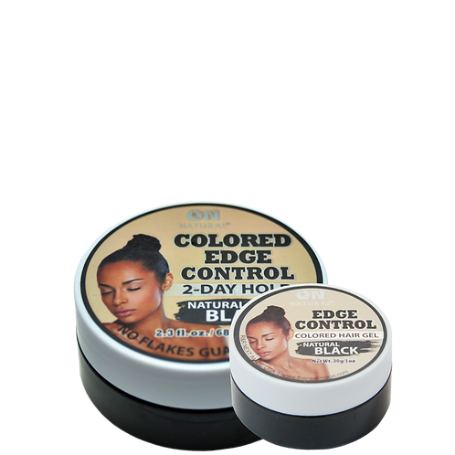 Edge Control Colored Hair Gel - Natural Black
