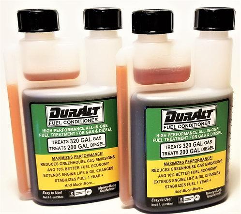 Two 8oz DurAlt® Btls            (Avg Gas Savings w/2 Btls @ $2.25/gal: $144.00)