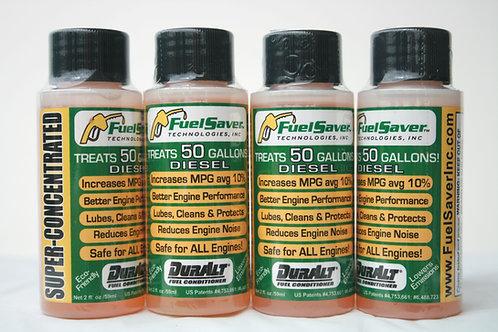 Four 2oz DurAlt® Diesel Btls  (Avg Diesel Savings w/4 Btls @ $2.25/gal: $45.00)