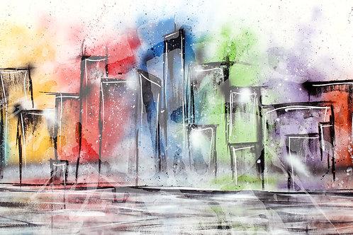 """A Colorful City"" PRINT"