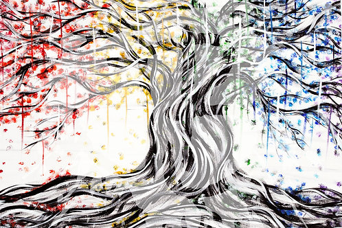 """""""A Colorful Tree"""" PRINT"""